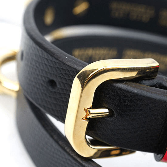 Meredith Wendell Leather Dog Collar