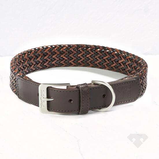 MiaCara Leather Dog Collar