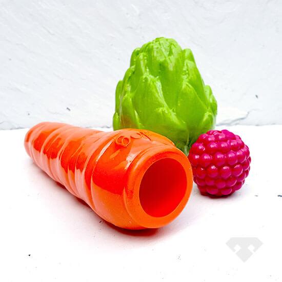 Fruit & Veg - Minty Rubber Dog Toy