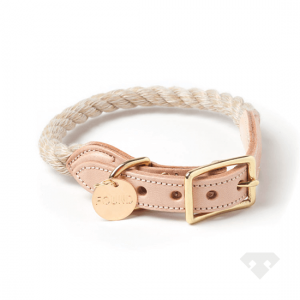 Found My Animal Rope Dog Collar Jute