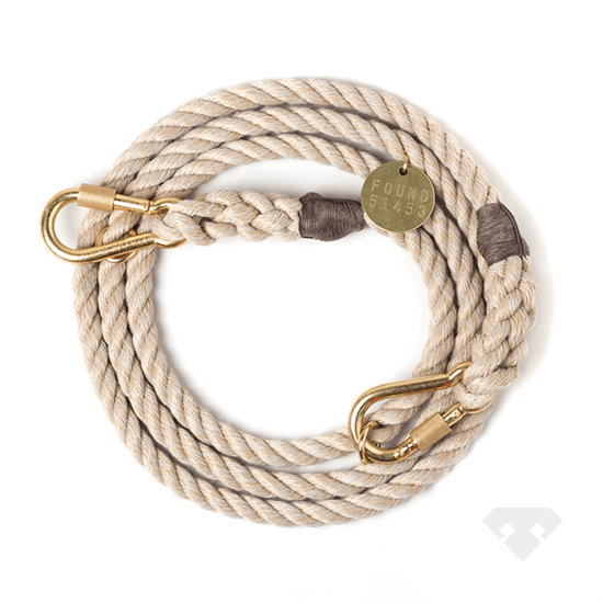 Found My Animal Rope Dog Lead Jute