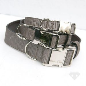 Cracked leather dog collars by Hartman & Rose