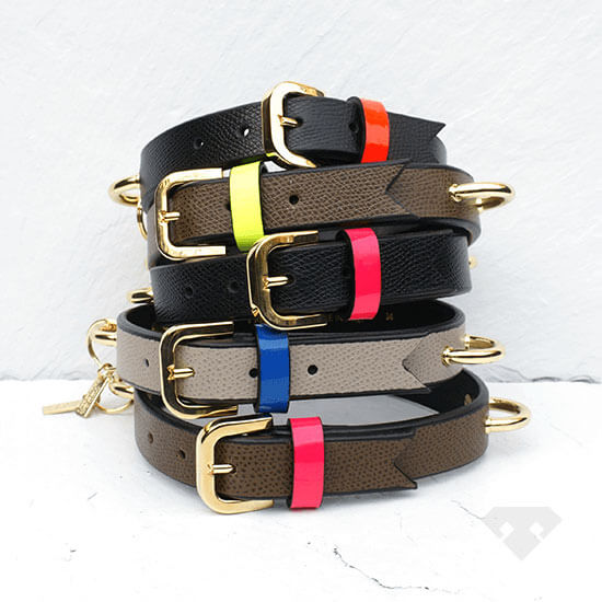 Meredith Wendell Leather Dog Collars