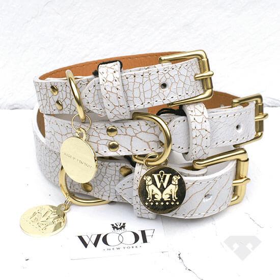 Woof NY Leather Dog Collar