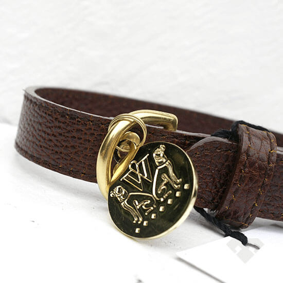 Woof NY Brown Leather Dog Collar