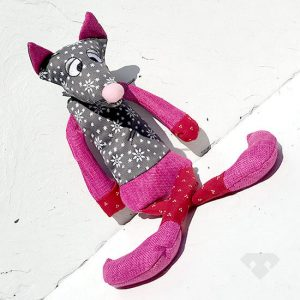 Patchwork Mouse Soft Dog Toy