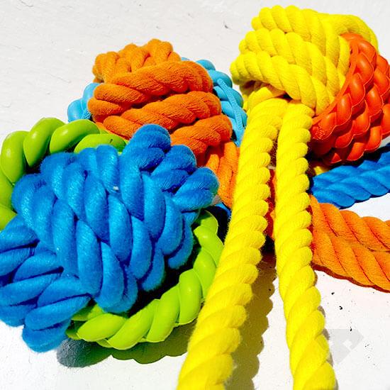 Rubber Rope Tug Dog Toy