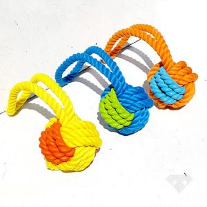 Rubber Rope Tug Dog Toy